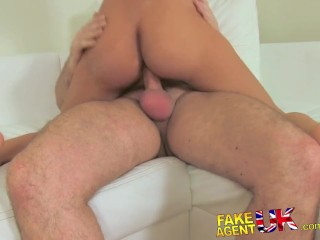 FakeAgentUK Hot Czech girls tight shaven pussy proves too much for agent
