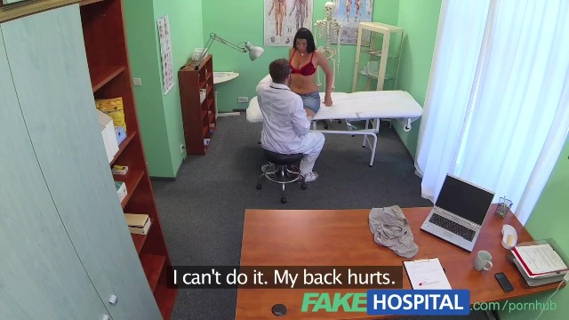 Fake doctor examining breasts Fakehospital busty sexy milf gets fucked on the examining table after strik