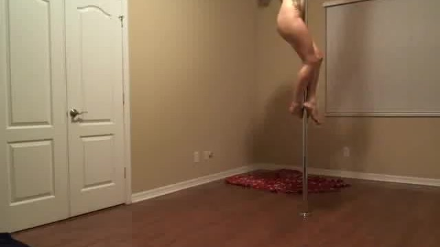 Longer free porn Breaking in my new longer stripper pole :