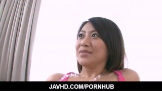 Too cute not to get fucked Hina Aisawa meets a cock