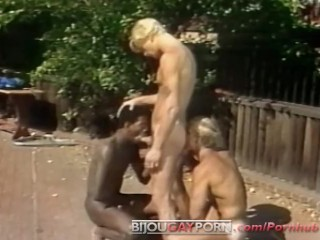 Outdoor threeway and voyeur classic 80 porn student...