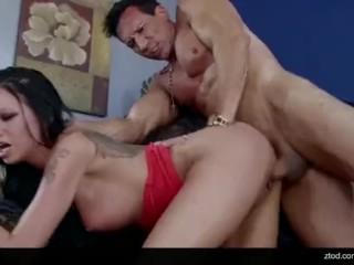 Raven Bay fucks her landlord