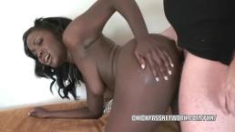 Black slut Osa Lovely fucks and gets a big facial