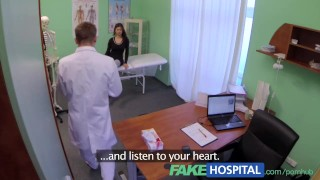 FakeHospital Perfect busty slim patient loves the doctors cock cure Cumshot policeman