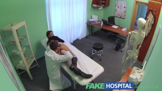 FakeHospital Perfect busty slim patient loves the doctors cock cure In public