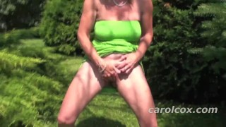 Peeing in park the squirting blonde