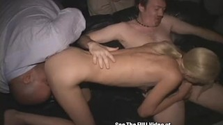 Skinny Blonde Wild Freak Fucked in Theater! porno