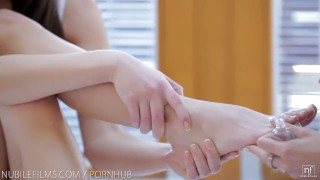 Nubile Films - Lesbian sex doesnt get hotter than this Tits interracial