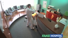 FakeHospital Sexy patient bent over the receptionists desk and fucked hard