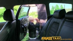 FakeTaxi Real amateur teen drops panties and lets taxi driver fuck her with