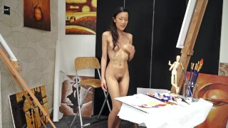 Artist Inco finds inspiration in her hairy pussy Tits amateur