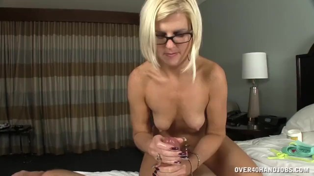 Naked moms over 40 - Naked milf with sexy body jerks off her husband
