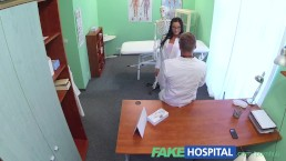 FakeHospital Gorgeous glasses wearing trainee learns that sex is best