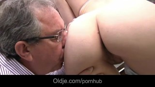 Beautiful Beata Undine gets laid with oldman backyard Blow pov