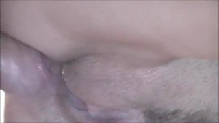 sex, cum and pee in pussy, extreme closeup