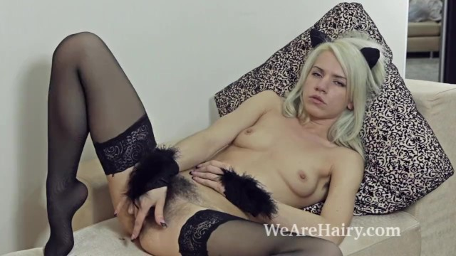 We make sexy time Stockings make hairy girl selena horny and naughty
