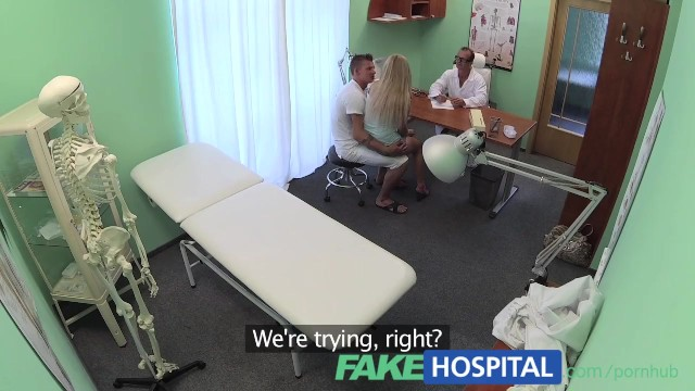 Fucked in hospital Fakehospital boyfriend fucks his girlfriend while the doctor gives advice