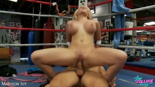 College babe Madison Ivy fuck cock