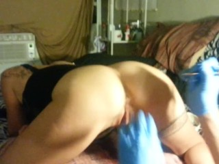 Preview 5 of Butthole Tattoo - Lydia Getting Butthole Tattooed