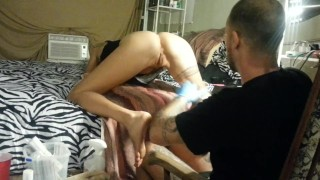Butthole Tattoo -  Lydia Getting Butthole Tattooed