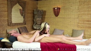 FantasyMassage Awesome BJ at the Rub and Tug Puffy natural