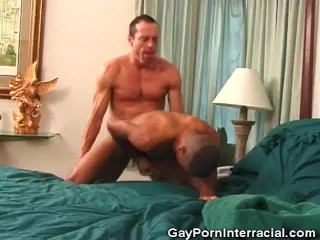 Picture of Sizzling Gay Interracial Fucking And Cumming