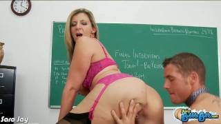 Big assed Sara Jay ride cock