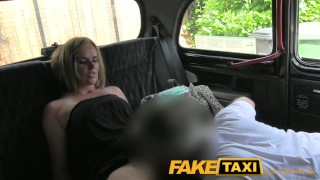 For makes woman pissing faketaxi seats married up taxi on blonde busty