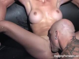 Derrick fucks Dani Daniels and a hot blonde