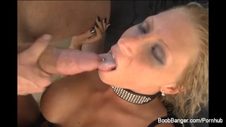 Blonde hard gets fucked busty shaved lingerie