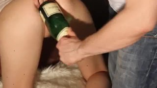 And champagne bottle fuck brutal fisting double amateur toys