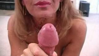 Husband janet sucks off her mason blowjob licking