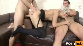 Blonde Teen Stretched from End to End