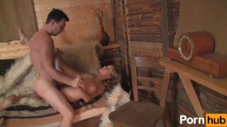 Pussy at weekend cottage blowjob blonde