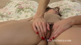 Hairy beauty Gretta enjoys a kinky massage today Cock pussy
