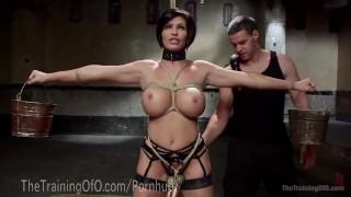 Slave MILF With Huge Tits Sharp trampling