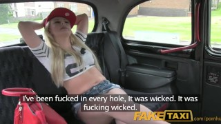 Preview 1 of FakeTaxi Filthy UK blonde chav loves fucking strangers