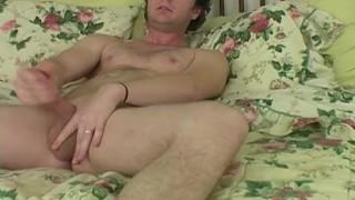 Hot Brunette Straight Guy Johnny Masturbating