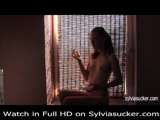 Erotic Smoking.Cutie Young Milf Marlboro 100's Smoking-Sylvia Chrystall.