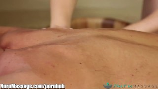 Fantasy nurumassage slippery member anal blonde cum