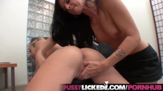 PussyLicked Mom and Teen Explore their Sexuality Together