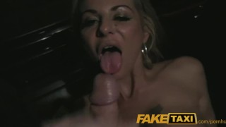 FakeTaxi Blonde slut rides long cock in UK taxi