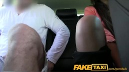 FakeTaxi Brunette fucked from behind by taxi driver