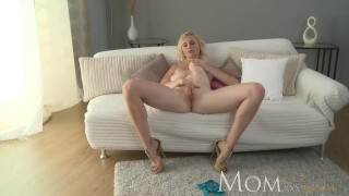 MOM Blonde MILF lets us watch her finger herself to orgasm porno