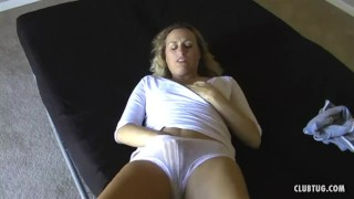 Enjoys milf dicks blonde jerking mom handjob