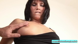 Busty blowjob slut loves big facial