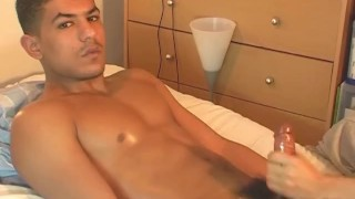 Arab hands my cock for huge muscle cock