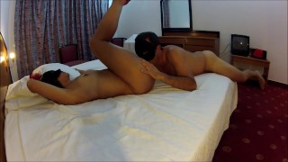 Slapping fingering licking pussy blackmask amateur