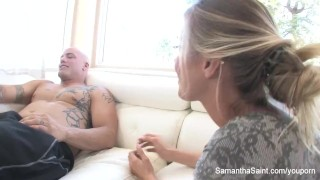 Samantha Saint gets her pussy fucked hard