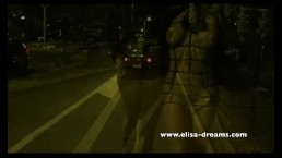 Flashing and nude in public in the street